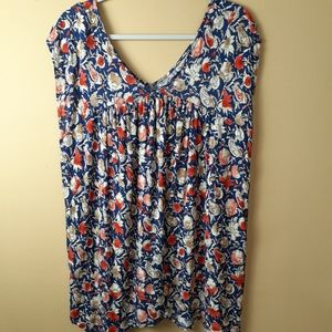 Lucky Brand floral top size 1X